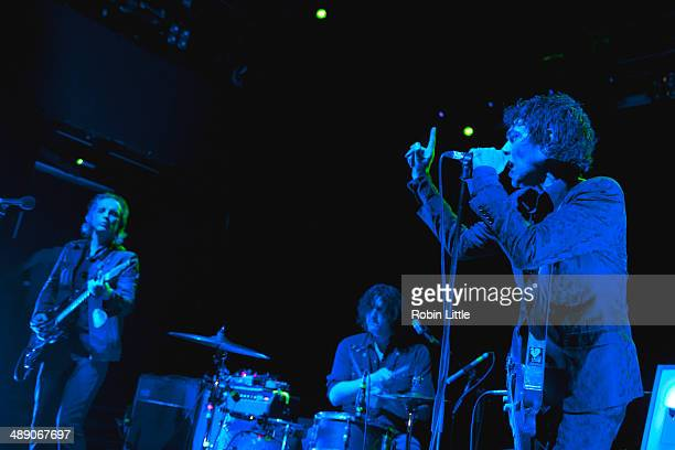 Judah Bauer Russell Timmins and Jon Spencer of Jon Spencer Blues Explosion perform on stage at KOKO on May 9 2014 in London United Kingdom