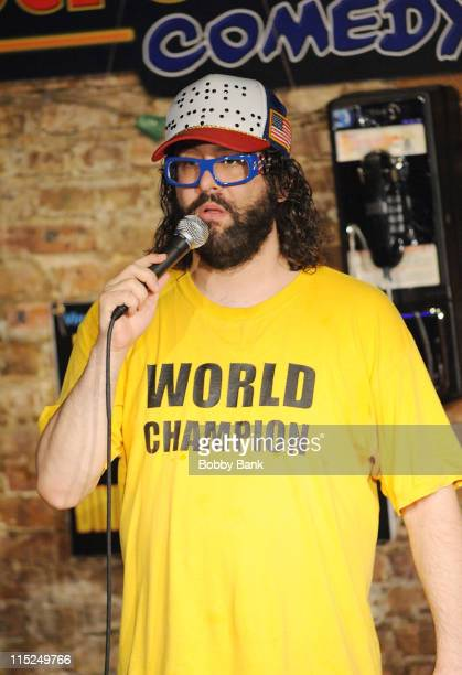 Judah Friedlander performs at The Stress Factory Comedy Club on June 4, 2011 in New Brunswick, New Jersey.