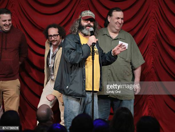 Judah Friedlander takes part in SiriusXM host Ron Bennington's annual Thanksgiving Special at Hard Rock Cafe Times Square on November 14 2017 in New...
