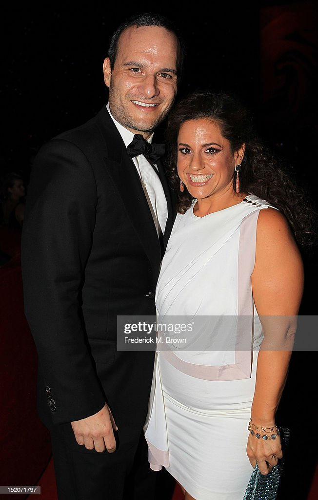 Judah Miller (L) and actress Marissa Jaret Winokur attend The Academy Of Television Arts & Sciences 2012 Creative Arts Emmy Awards' Governors Ball at the Los Angeles Convention Center on September 15, 2012 in Los Angeles, California.