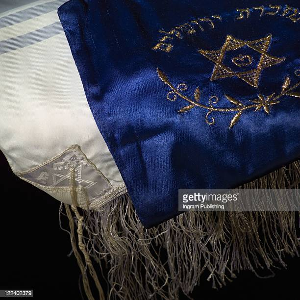 judaica symbols - prayer shawl - jewish prayer shawl ストックフォトと画像
