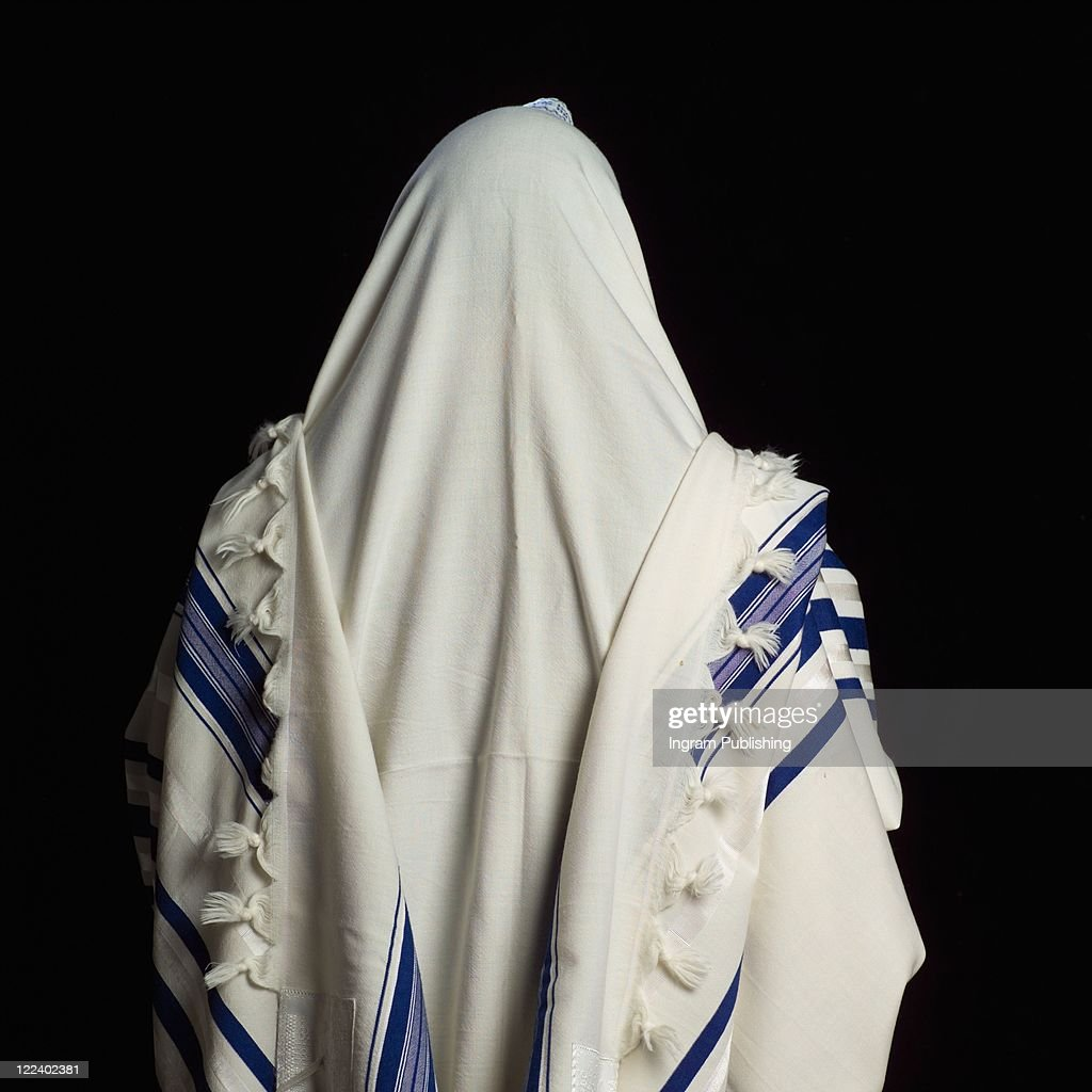 Judaica symbols - Prayer Shawl : Stock Photo