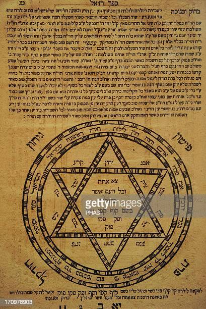 Judaism Divine protection Amulets Often consisted of scrolls written in Hebrew and the texts were combined with motifs geometircos or magical figures...