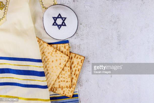 judaism religious on jewish matza passover - jewish prayer shawl stock pictures, royalty-free photos & images