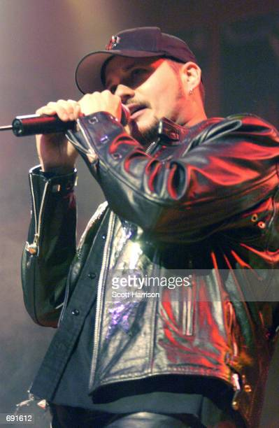 """Judas Priest lead singer Tim """"Ripper"""" Owens performs January 17, 2002 at the House of Blues in Las Vegas. The band is currently on tour to promote..."""
