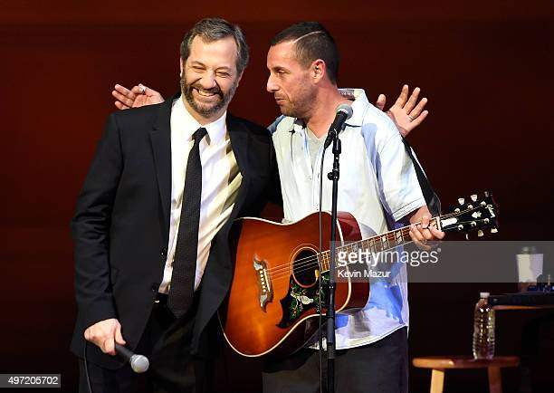 Judd Apatow and Adam Sandler performing at The New York Comedy Festival at Carnegie Hall on November 14 2015 in New York City