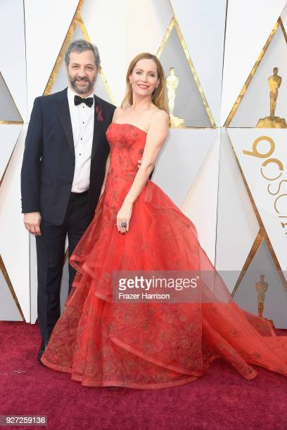 Judd Apatow and Leslie Mann attend the 90th Annual Academy Awards at Hollywood Highland Center on March 4 2018 in Hollywood California