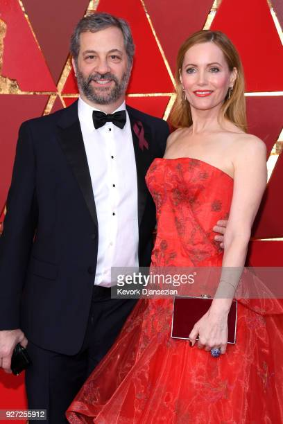 Judd Apatow and Leslie Mann attends the 90th Annual Academy Awards at Hollywood & Highland Center on March 4, 2018 in Hollywood, California.