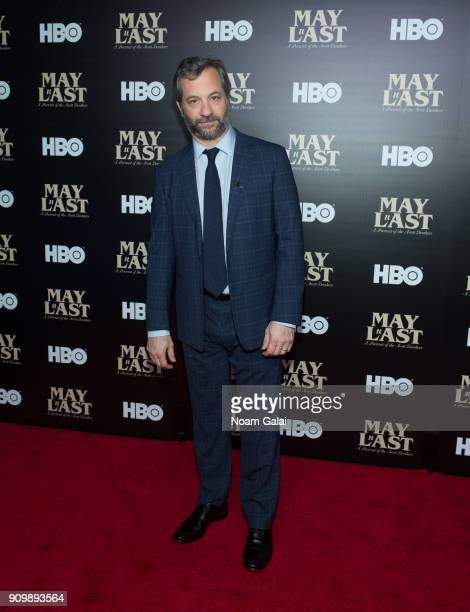 Judd Apatow attends HBO's 'May It Last A Portrait of The Avett Brothers' NYC premiere on January 24 2018 in New York City