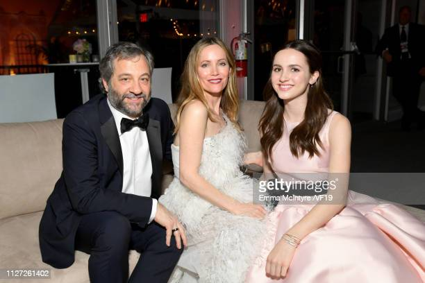 Judd Apatow Leslie Mann and Maude Apatow attend the 2019 Vanity Fair Oscar Party hosted by Radhika Jones at Wallis Annenberg Center for the...