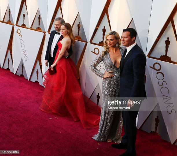 Judd Apatow Leslie Mann Molly Sims and Scott Stuber attends the 90th Annual Academy Awards at Hollywood Highland Center on March 4 2018 in Hollywood...
