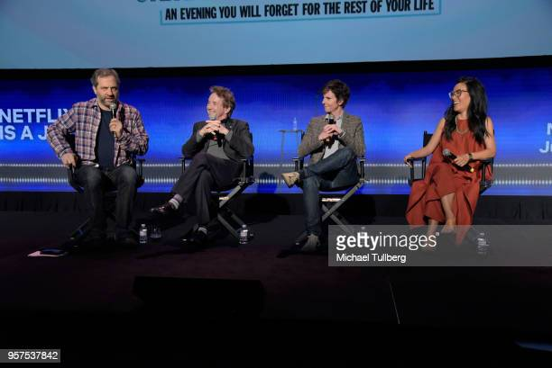 Judd Apatow Martin Short Tig Notaro and Ali Wong talk to the audience at 'Neflix Is A Joke A Celebration of Netflix StandUp FYC Event' at Netflix...