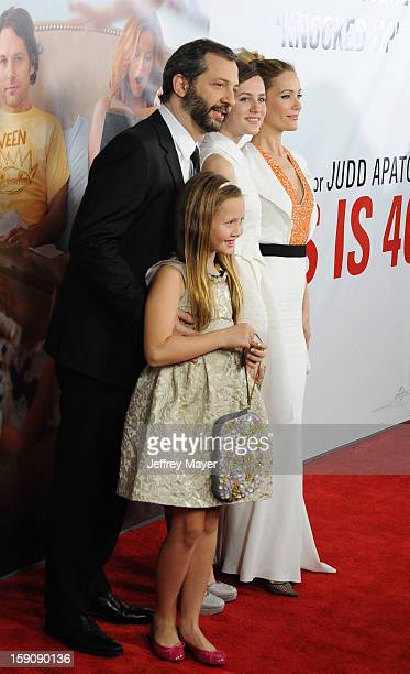 Judd Apatow Maude Apatow Iris Apatow and Leslie Mann arrive at the 'This Is 40' Los Angeles Premiere at Grauman's Chinese Theatre on December 12 2012...