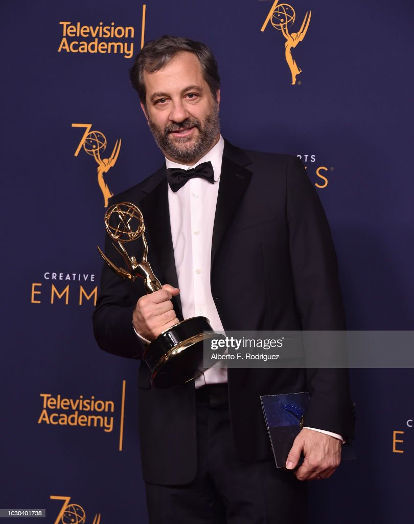 Judd Apatow poses in the press room during the 2018 Creative Arts Emmys at Microsoft Theater on September 9, 2018 in Los Angeles, California.