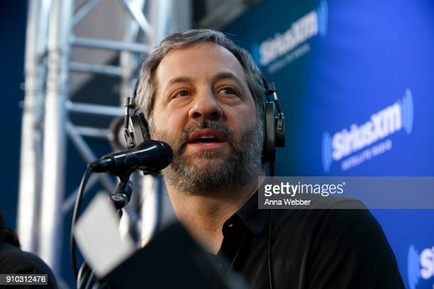 Judd Apatow speaks during the SiriusXM Town Hall With Judd Apatow Michael Bonfiglio The Avett Brothers Hosted By Kurt Loder at SiriusXM Studios on...