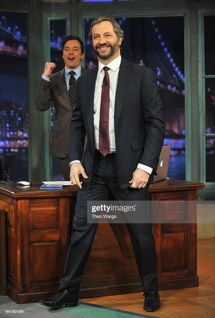 Judd Apatow visits 'Late Night With Jimmy Fallon' at Rockefeller Center on March 20, 2013 in New York City.