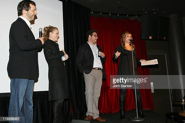 Judd ApatowLeslie MannSeth Rogen and Bianca Dye during 'Knocked Up' Sydney Premiere After Party at Comedy Store in Sydney NSW Australia