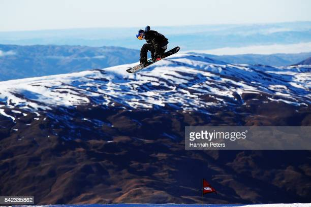 Judd Henkes of USA competes during Winter Games NZ FIS Men's Snowboard World Cup Slopestyle Finals at Cardrona Alpine Resort on September 4 2017 in...