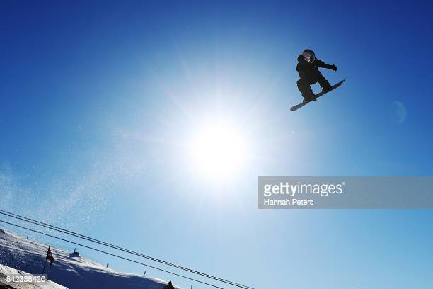 Judd Henkes of USA competes during Winter Games NZ FIS Snowboard World Cup Slopestyle Finals at Cardrona Alpine Resort on September 4 2017 in...