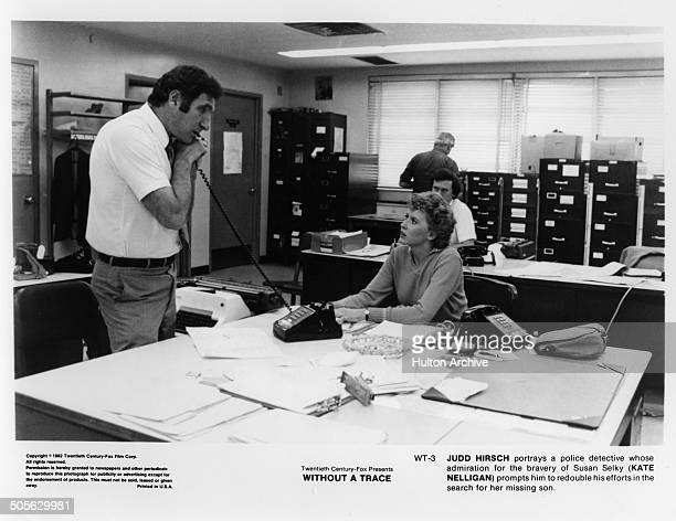Judd Hirsch talks with Kate Nelligan in a scene in the 20th Century Fox movie Without a Trace circa 1983