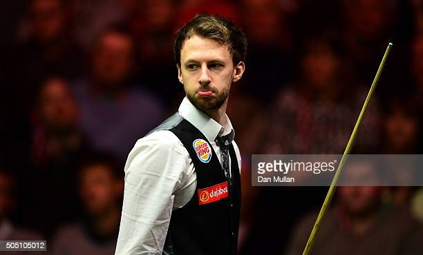 Judd Trump of England looks on during his quarter final match against Neil Robertson of Australia during Day Six of The Dafabet Masters at Alexandra...