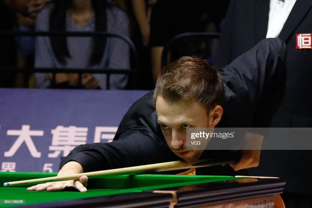 Judd Trump of England plays a shot during his first round match against Daniel Wells of Wales on day two of Evergrande 2017 World Snooker China Champion at Guangzhou Sport University on August 17, 2017 in Guangzhou, Guangdong Province of China.