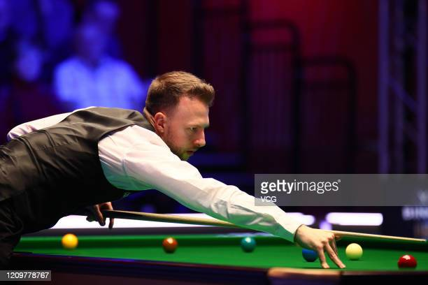 Judd Trump of England plays a shot during the final match against Yan Bingtao of China on day seven of 2020 Coral Players Championship at Southport...