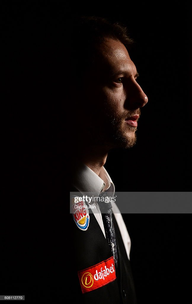 Judd Trump of England talks to the media following his victory over Neil Robertson of Australia in their quarter final match during Day Six of The Dafabet Masters at Alexandra Palace on January 15, 2016 in London, England.