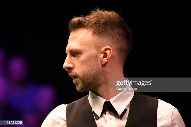 Judd Trump reacts during his match against Mei Xi Wen in round 2 of the Betway UK Championship at The Barbican on December 01, 2019 in York, England.
