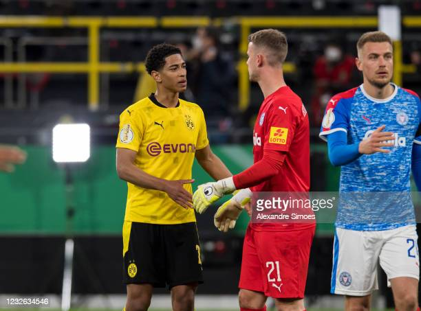 Jude Bellingham is seen after the match between Borussia Dortmund and Holstein Kiel on May 01, 2021 in Dortmund, Germany.