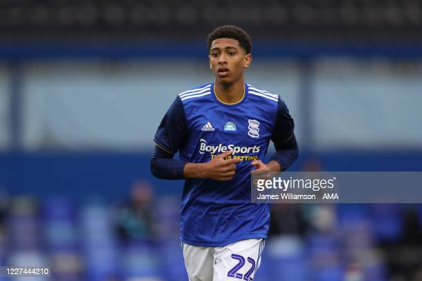 Jude Bellingham of Birmingham City during the Sky Bet Championship match between Birmingham City and Charlton Athletic at St Andrew's Trillion Trophy...