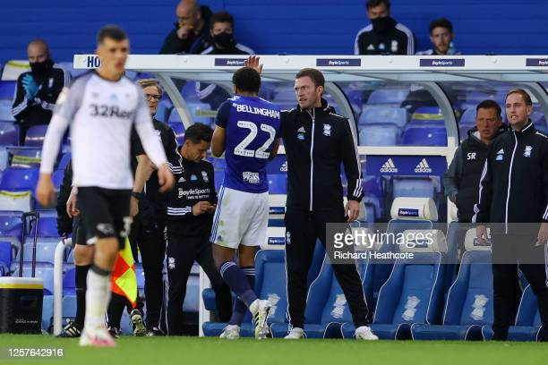 Jude Bellingham of Birmingham City is substituted after an injury during the Sky Bet Championship match between Birmingham City and Derby County at...