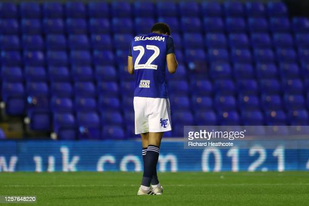 Jude Bellingham of Birmingham City looks dejected after the Sky Bet Championship match between Birmingham City and Derby County at St Andrew's...