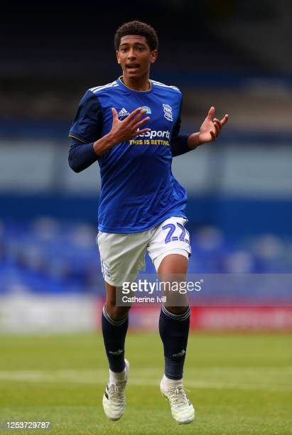 Jude Bellingham of Birmingham City reacts during the Sky Bet Championship match between Birmingham City and Huddersfield Town at St Andrew's Trillion...