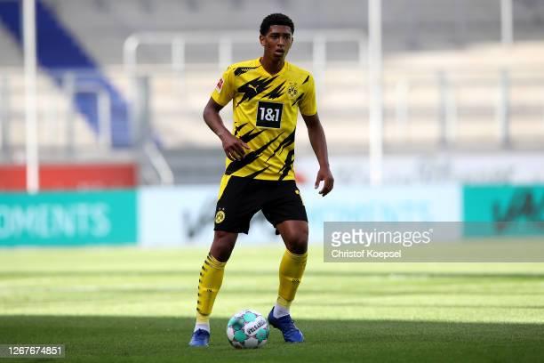Jude Bellingham of Dortmund runs with the ball during the match between MSV Duisburg and Borussia Dortmund of Schauinsland-Reisen Cup der Traditionen...