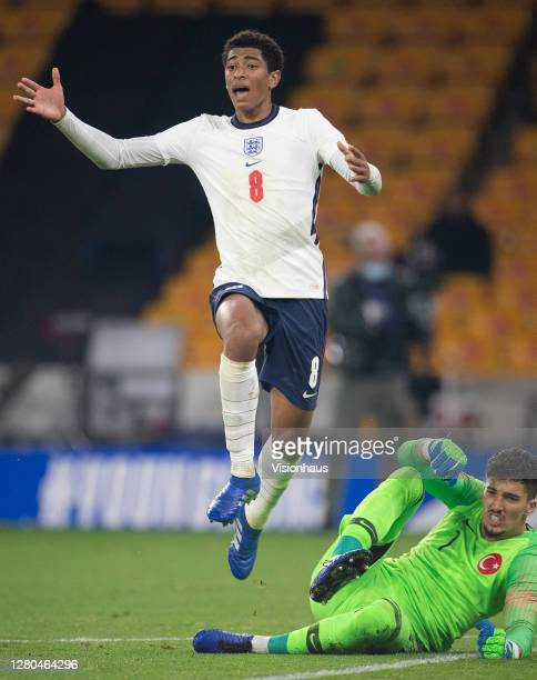Jude Bellingham of England during the UEFA Euro Under 21 Qualifier match between England U21 and Turkey U21 at Molineux on October 13 2020 in...