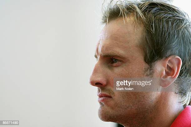 Jude Bolton looks on during the Sydney Swans 2009 AFL season launch at the Bondi Icebergs Club on March 24, 2009 in Sydney, Australia.