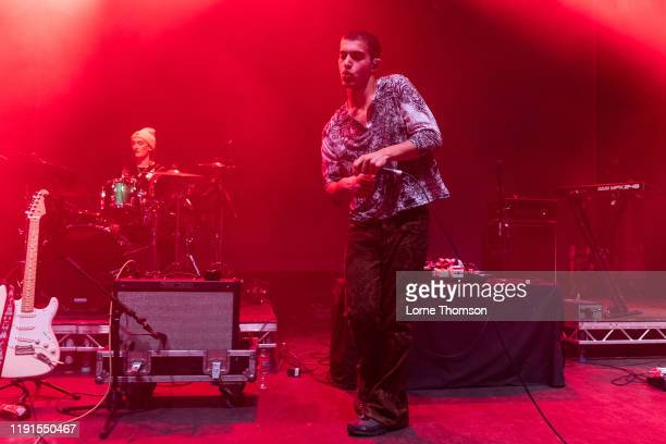 Jude Ciulla of Laundry Day performs at O2 Shepherd's Bush Empire on December 02 2019 in London England