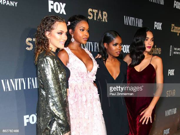 Jude Demorest Ryan Destiny Amiyah Scott and Brittany O'Grady attend 'Empire' 'Star' Celebrate FOX's New Wednesday Night Red Carpet at One World...