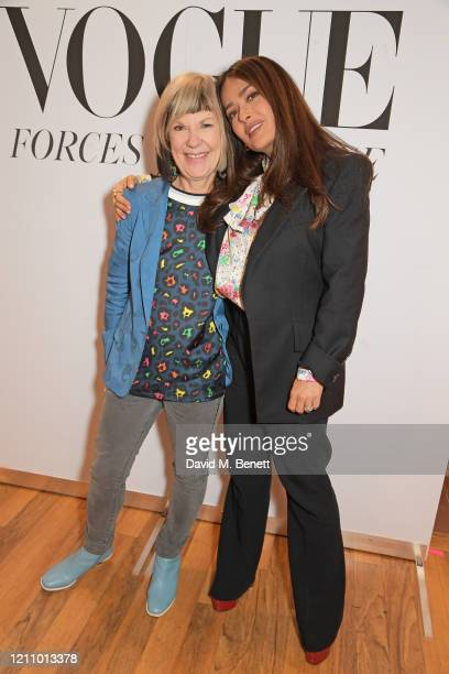 Jude Kelly and Salma Hayek attend British Vogue's Forces For Change during the WOW Women Of The World Festival at Southbank Centre on March 07, 2020...