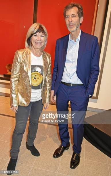 Jude Kelly Southbank Centre artistic director and Ralph Rugoff director of The Hayward Gallery attend the reopening of The Hayward Gallery featuring...