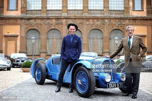 Jude Law and Giancarlo Giannini pose during the photocall of Johnnie Walker Blue Label's The Gentleman's Wager II in Rome on October 31st' at Villa...