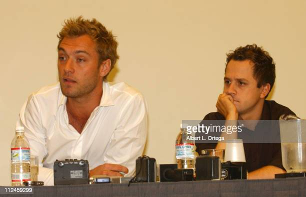 Jude Law and Giovanni Ribisi during 2004 San Diego ComicCon International Day Three at San Diego Convention Center in San Diego California United...