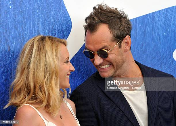 Jude Law and Ludivine Sagnier attend a photocall for 'The Young Pope' during the 73rd Venice Film Festival at on September 3, 2016 in Venice, Italy.