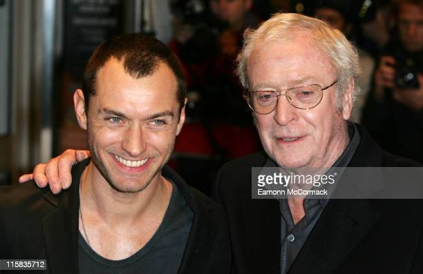 Jude Law and Michael Caine attend the 'Sleuth' UK Premiere at the Odeon West End on November 18 2007 in London England