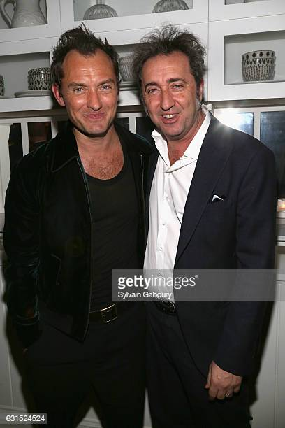 Jude Law and Paolo Sorrentino attend The Cinema Society Hosts the After Party for HBO's 'The Young Pope' on January 11 2017 in New York City