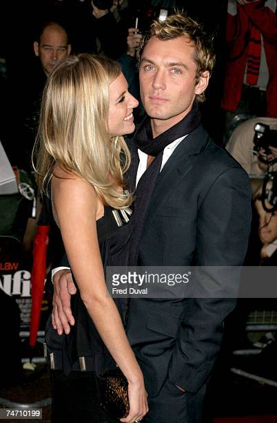 Jude Law and Sienna Miller at the Alfie London Premiere for the Make a Wish Foundation Arrivals at Empire Leicester Square in London