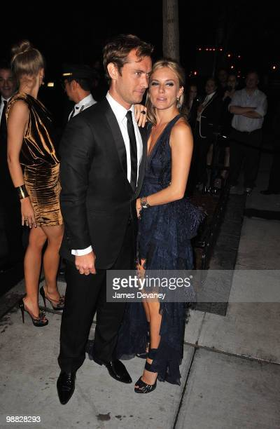 Jude Law and Sienna Miller attend the Metropolitan Museum of Art's Costume Institute Gala after party at the Mark Hotel on May 3 2010 in New York City