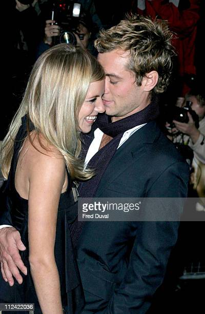 Jude Law and Sienna Miller during Alfie London Premiere for the Make a Wish Foundation Arrivals at Empire Leicester Square in London Great Britain
