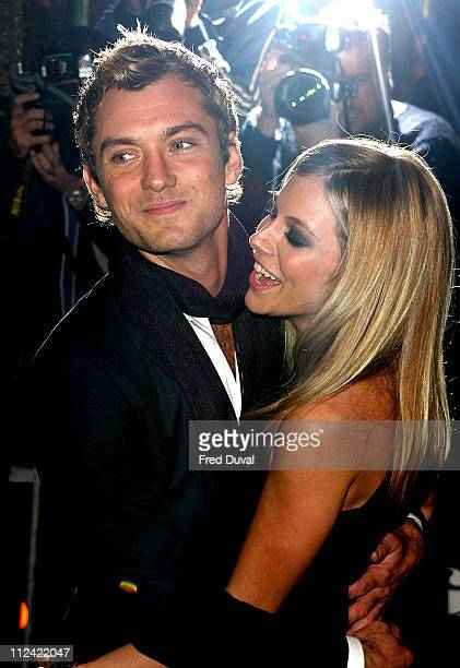 Jude Law and Sienna Miller during 'Alfie' London Premiere for the Make a Wish Foundation Arrivals at Empire Leicester Square in London Great Britain